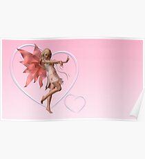 Pink Valentine Fairy Poster