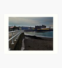 Aberwyswyth railings Art Print