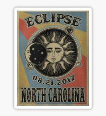 Vintage Solar Eclipse North Carolina 2017 t-shirt Sticker