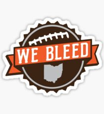 We Bleed Ohio Football Sticker