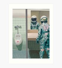 The Men's Room Art Print