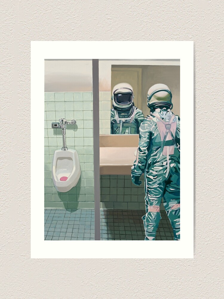Alternate view of The Men's Room Art Print