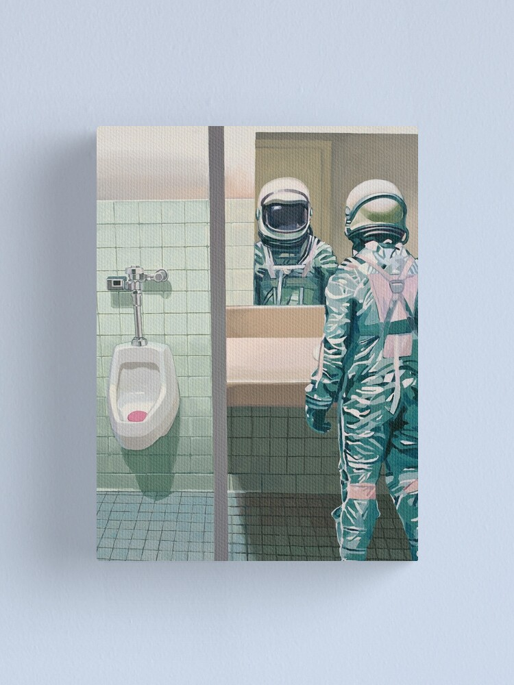 Alternate view of The Men's Room Canvas Print