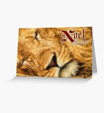 Noel Peace on Earth African Lion Painting Greeting Card