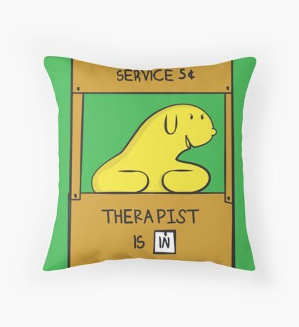 Hand Bananas Therapist Service Throw Pillow