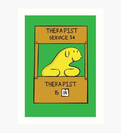 Hand Bananas Therapist Service Art Print