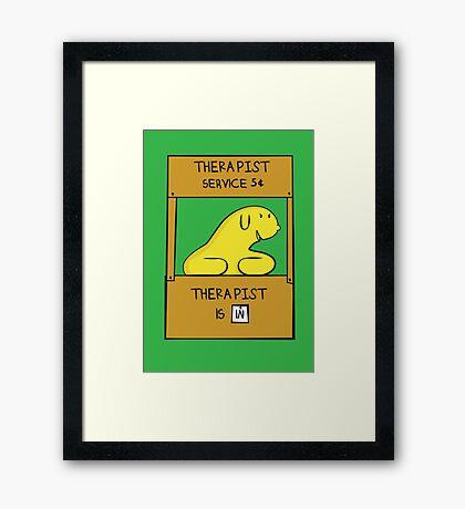 Hand Bananas Therapist Service Framed Print