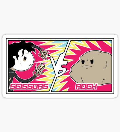 Scissors Vs Rock Sticker