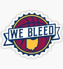 We Bleed Ohio Basketball Sticker