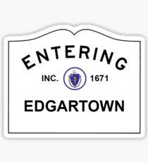 Entering Edgartown, Martha's Vineyard Sticker