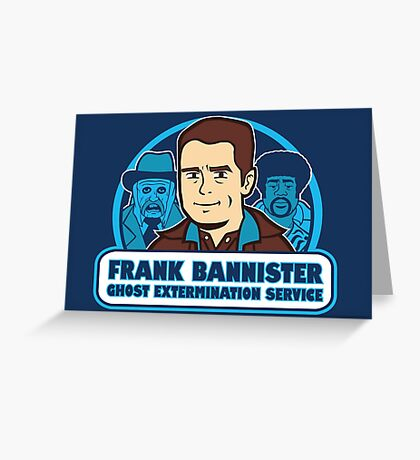 Frightener Ghost Extermination Service Greeting Card