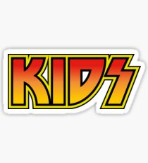 KIDS KISS 70s 80s ROCK BAND STYLE LOGO for Parents with Kids Sticker