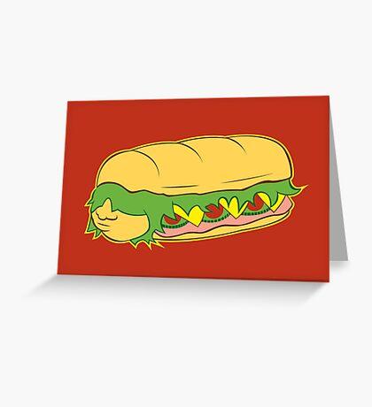 Hoagie Greeting Card