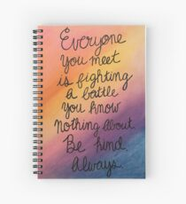 SKAM Be Kind - pastels Spiral Notebook