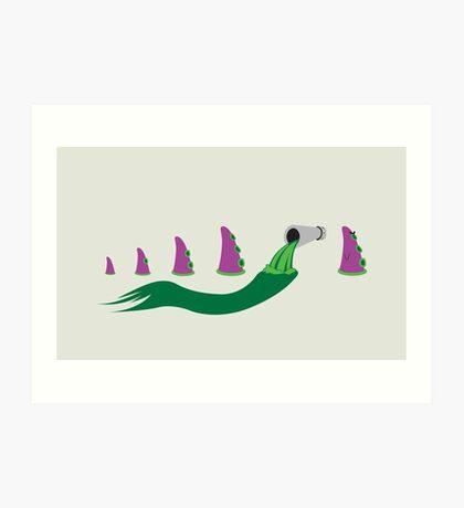 Evolution of Purple Tentacle Green Ooze Art Print