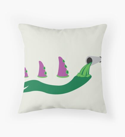 Evolution of Purple Tentacle Green Ooze Throw Pillow