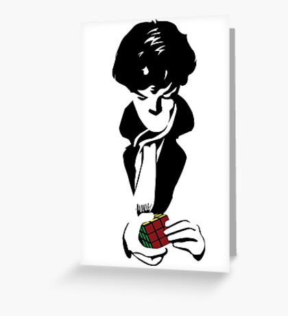 Nothing left unsolved (black) Greeting Card