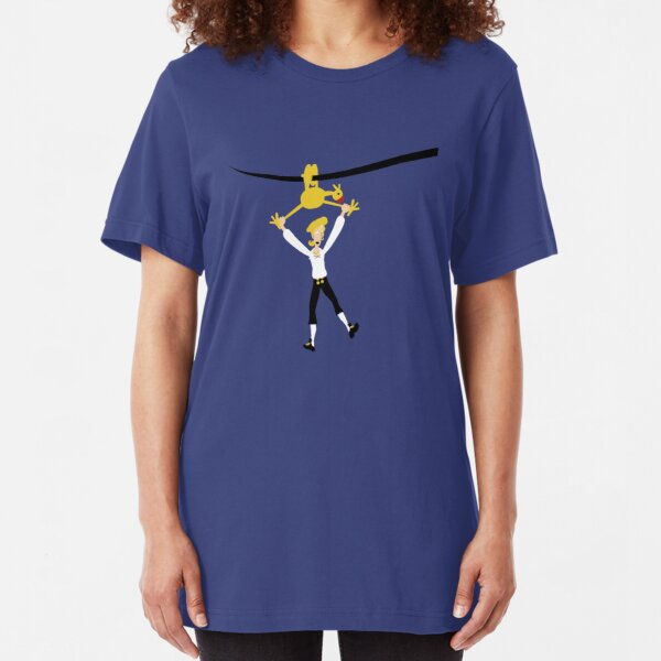 Rubber chicken with a pulley in the middle Slim Fit T-Shirt