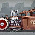 Fine Tooned Rat Rod Truck, Brown by CraigWoida