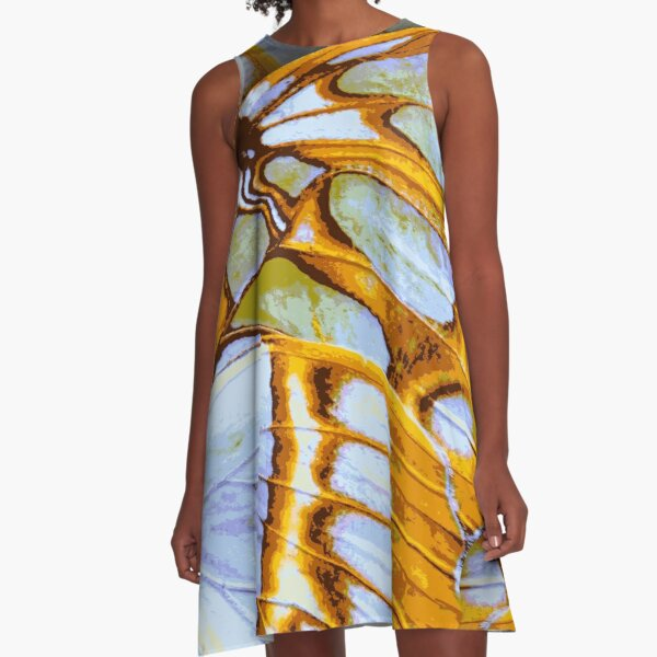 GOLDEN COLORS – Wing Series A-Line Dress