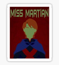 Young Justice: Minimalist Miss Martian Poster Sticker