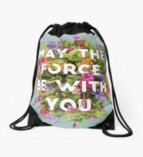Floral Force Drawstring Bag