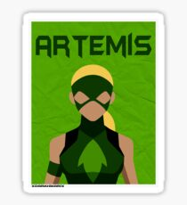 Young Justice: Minimalist Artemis Poster Sticker