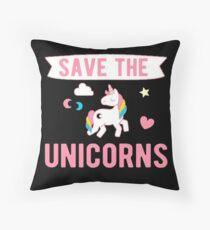 Save The Unicorns T-Shirt Throw Pillow