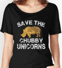 Speichern Sie die Chubby Unicorns T-Shirt Baggyfit T-Shirt