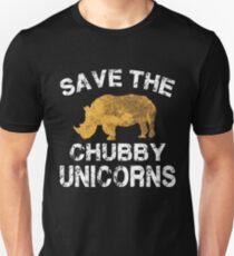 Speichern Sie die Chubby Unicorns T-Shirt Unisex T-Shirt