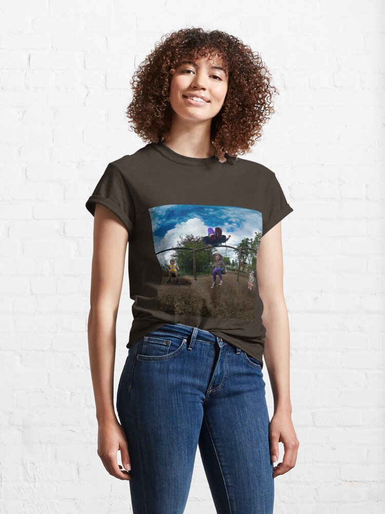 Alternate view of 3  Kids on a Swing Classic T-Shirt