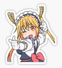 Maid Dragon- Tohru pointing pose Sticker