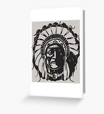 American Native Chef Tribe Greeting Card