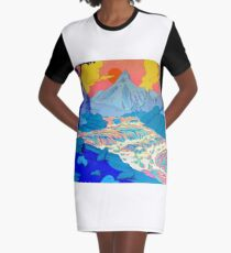 River Graphic T-Shirt Dress