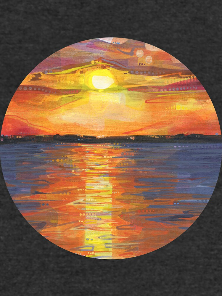 Sunset on the water painting - 2017 by gwennpaints