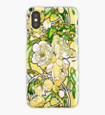 Mucha Peonies, a la Stained Glass HDR iPhone Case/Skin