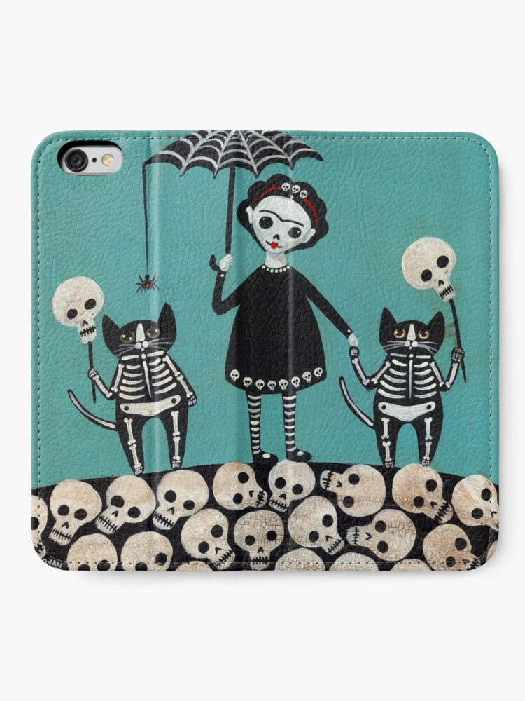 Alternate view of Day of the Dead  iPhone Wallet