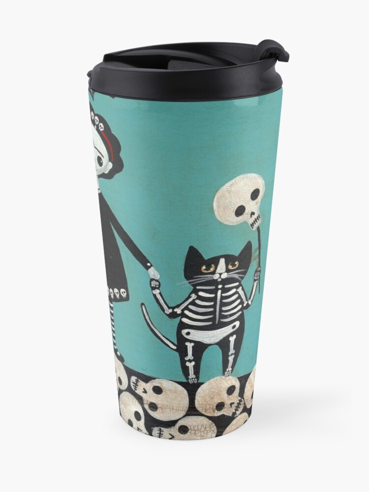 Alternate view of Day of the Dead  Travel Mug