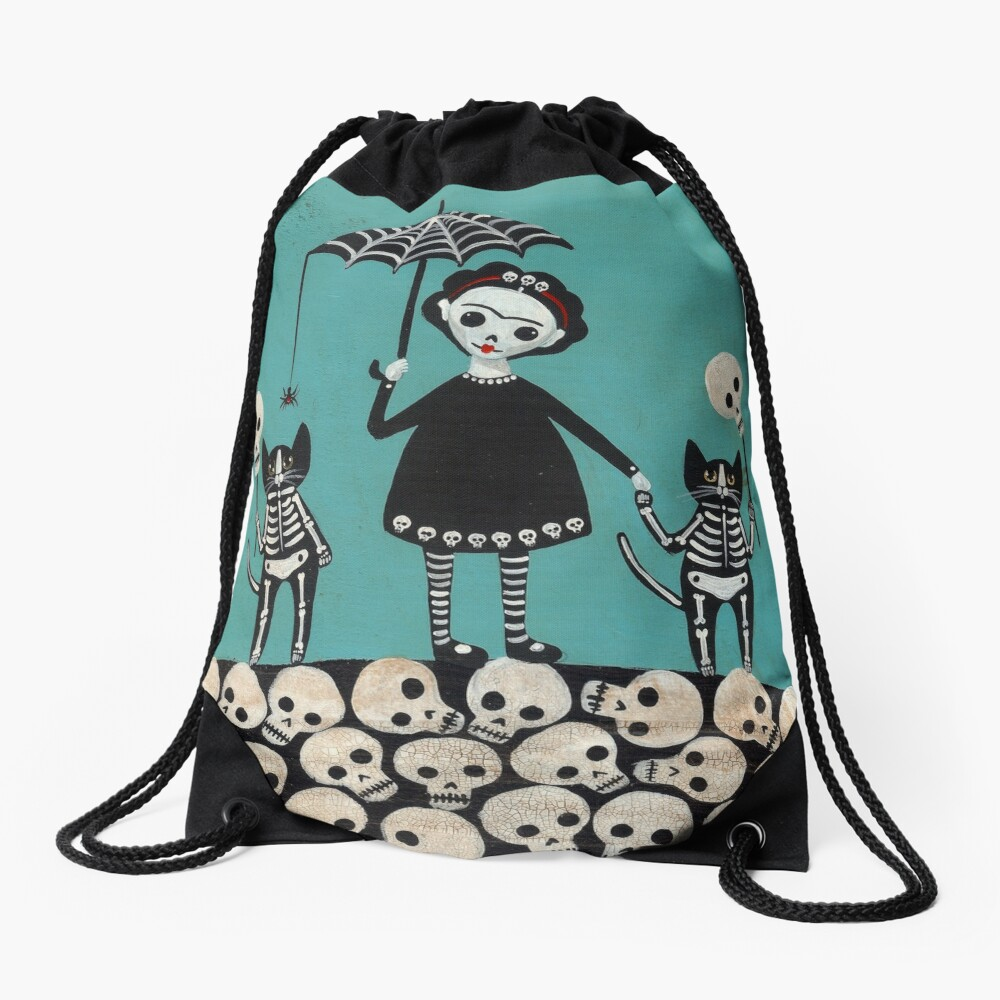 Day of the Dead  Drawstring Bag