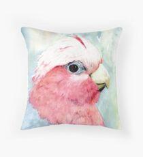 Australian Galah Cockatoo Watercolour Painting  Throw Pillow
