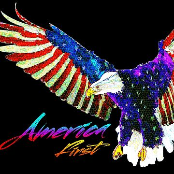 America First Eagle by CentipedeNation