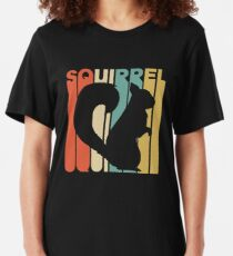 Vintage Style Squirrel Silhouette Shirt Slim Fit T-Shirt