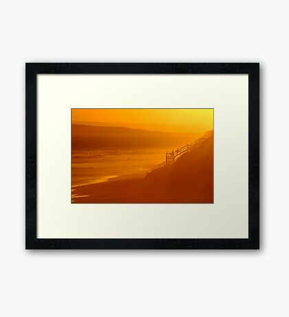 End of Day 13th Beach Framed Print
