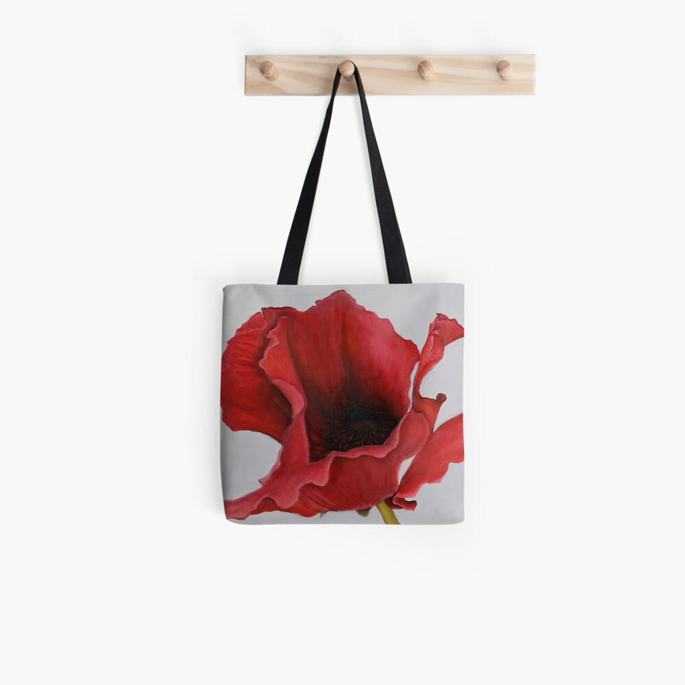 Red Poppy by Dianna Derhak Tote Bag