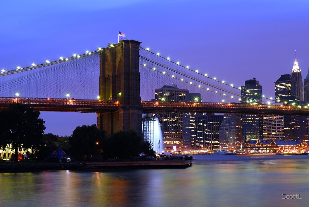 New York City at Dusk by ScottL