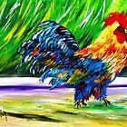Feral Kauai Rooster...Mahalo Iniki......... by WhiteDove Studio kj gordon