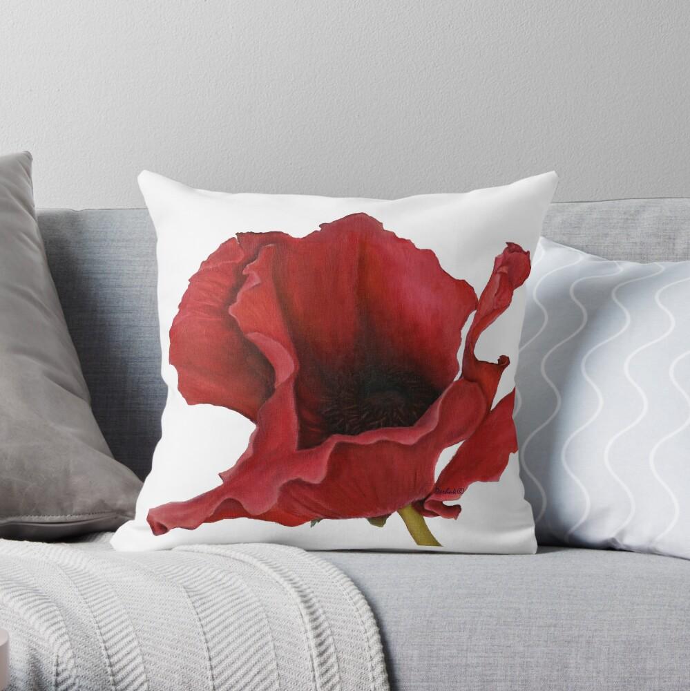 Poppy By Dianna Derhak Throw Pillow