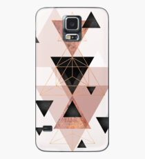 Geometric Triangles in blush and rose gold Case/Skin for Samsung Galaxy
