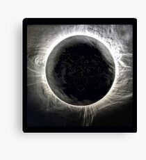 SOLAR ECLIPSE 2017 TWO MINUTES OF PURE WONDER Canvas Print