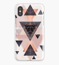 Geometric Design in Blush, Navy and Copper iPhone Case/Skin